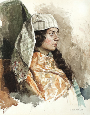 Isaac Levitan. A Jew in the Eastern veil