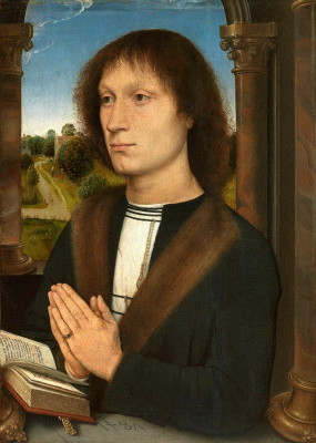 Hans Memling. Portrait Benedetto Portinari. Triptych Portinari. Right panel