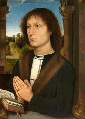 Hans Memling. Portrait Benedetto Portinari. Triptych Portinari. Right panel