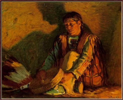 Луи Шарп. Свет от костра
