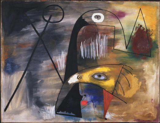Joan Miro. Man, woman, and child