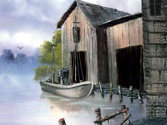 Bob Ross. Boat