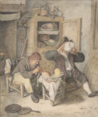 Корнелис Дюсарт. Сцена на кухне