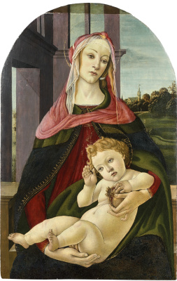 Sandro Botticelli. Madonna of the Pomegranate