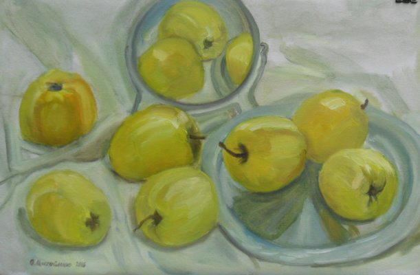 Olga Vladimirovna Mikhaylenko. Yellow apples