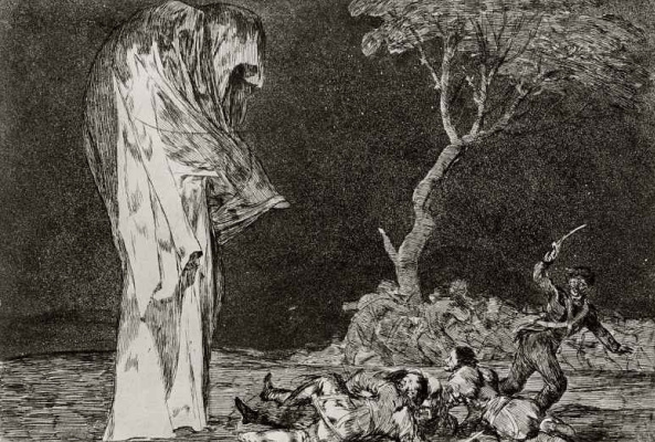 "Francisco Goya. A series of ""Disparates"" worksheet 02: the Folly of fear"