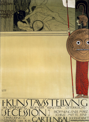 Gustav Klimt. Poster for the first exhibition of the secession (Theseus and Minotaur)