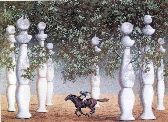 René Magritte. The lost jockey