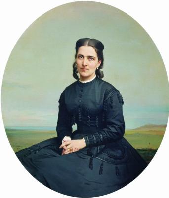 Sergey Konstantinovich Zaryanka. Portrait of Countess Olga Esperovna Shuvalova, nee Princess Beloselskaya-Belozerskaya
