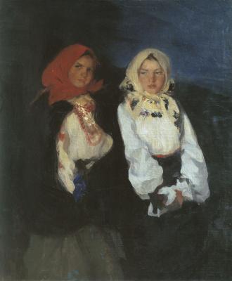 Pavel Dmitrievich Shmarov Russia - France 1874 - 1950. Rural girls.