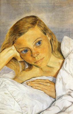 Lucien Freud. Girl in bed