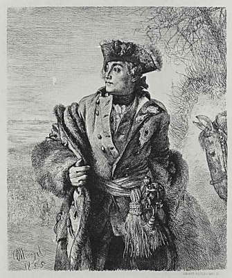 """Adolf Friedrich Erdmann von Menzel. A series of """"From the time of king Frederick. Heroes of war and peace"""", Prince Frederick Eugene of Wurttemberg, the Prussian General of cavalry"""