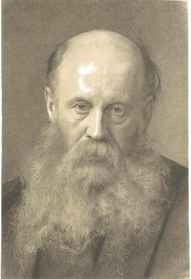 Густав Климт. Портрет мужчины с бородой анфас