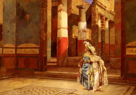 Луиджи Баззани. Визит в Помпей