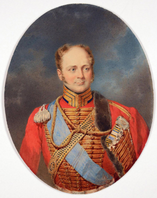 Mikhail Alexandrovich Zichy. Portrait of Emperor Alexander I. State Hermitage, St. Petersburg