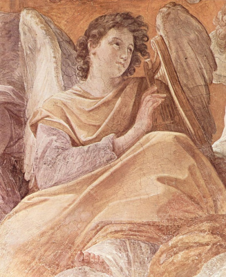 Guido Reni. The frescoes in the Palazzo Quirinale, Cappella Dell Annunziata, a fresco of the vault, scene: Queen of heaven and angels, detail