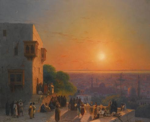 Ivan Aivazovsky. A night in Cairo