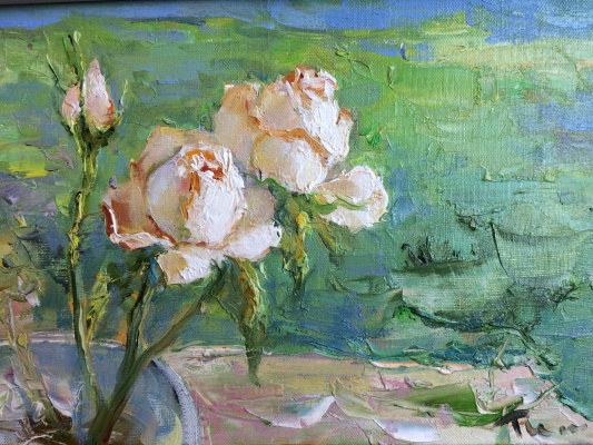 Tuman Art Gallery Tumana Zhumabayeva. Indian roses