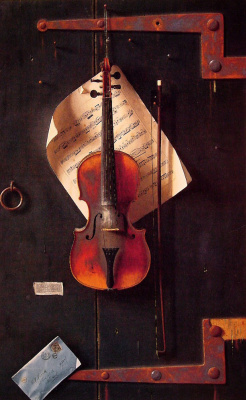 William Michael Harnett. Old violin