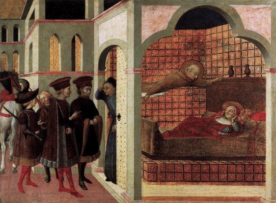 Сассетта. Благословенный Борго Сан-Сеполькро явился кардиналу во сне