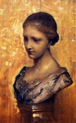 Джон Сингер Сарджент. Изучение скульптуры. Бюст молодой женщины. Лилль