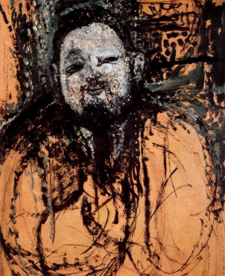 Amedeo Modigliani. Portrait Of Diego Rivera. Sketch