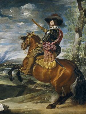 Diego Velazquez. Equestrian portrait of Duke de Olivares