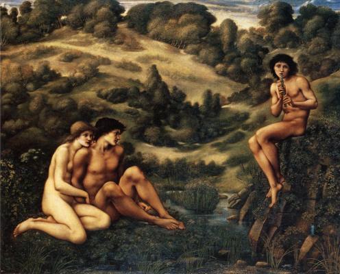 Edward Coley Burne-Jones. Pan's Garden