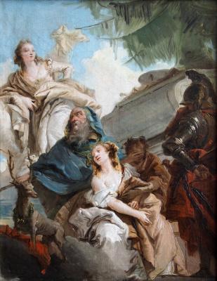 Giovanni Battista Tiepolo. Iphigenia Sacrifice