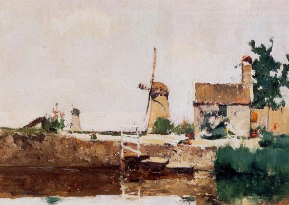John Henry Twachtman. Windmills , Dordrecht