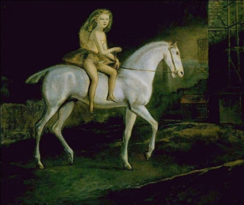Balthus (Balthasar Klossovsky de Rola). Girl on a white horse