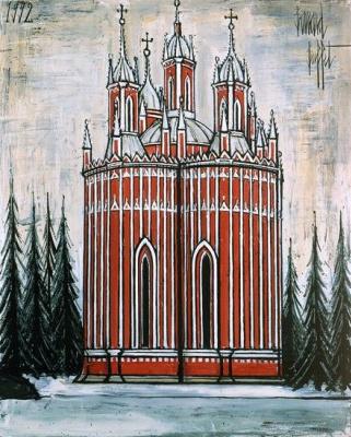 Bernard Buffet. Saint-Petersbourg : L'église de Tchesme