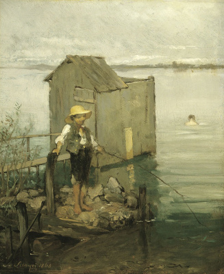 Pál Szinyei Merse. Bathhouse with a boy