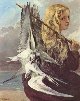 Gustave Courbet. Girl with seagulls