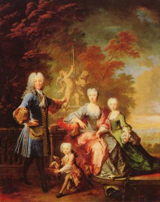 Робер Турньер. Портрет Фердинанда Адольфа, графа Плеттенбергского, с семьей