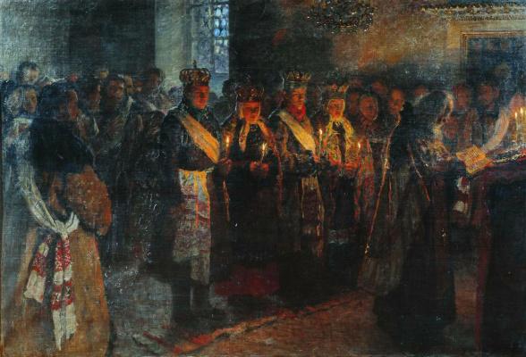 Nikolay Petrovich Bogdanov-Belsky. Wedding