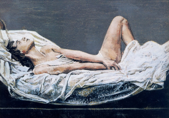 Жак Пайетт. Обнаженная в постели