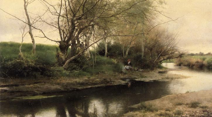 Эмилио Санчес-Перье. Костер на краю реки