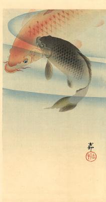 Ohara Koson. Fish 4
