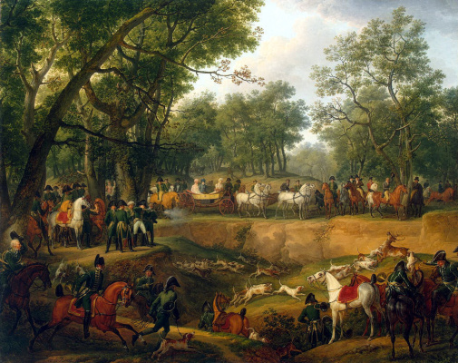 Карл Верне. Наполеон на охоте в Компьенском лесу