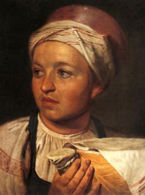 Alexey Gavrilovich Venetsianov. Girl with jug of milk