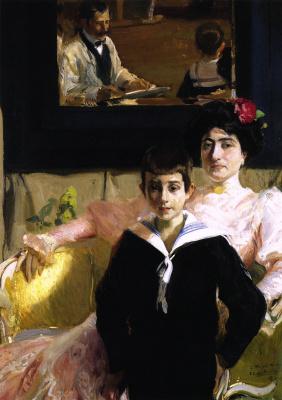 Хоакин Соролья (Соройя). Лукреция Арана с сыном
