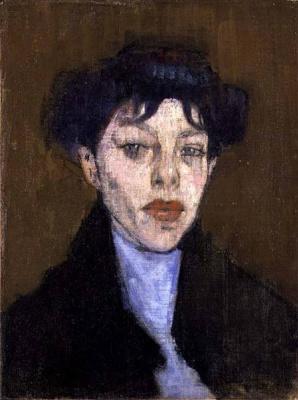 Амедео Модильяни. Портрет женщины с голубым платком