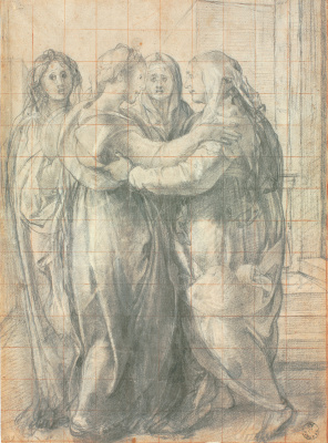 Jacopo Pontormo. Meeting of Mary and Elizabeth, sketch