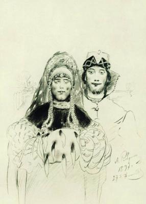 Andrei Petrovich Ryabushkin. Newlyweds. 1897
