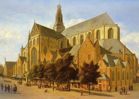Геррит Беркхейде. Церковь Святого Баво в Гарлеме