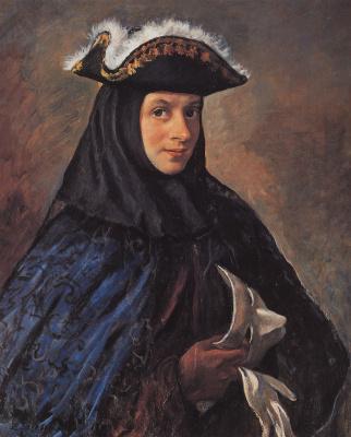 Zinaida Serebryakova. Alexander Serebryakov in carnival costume