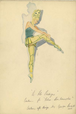Peter Garst. Ballet Costume Design for The Prodigal Son after Georges Rouault