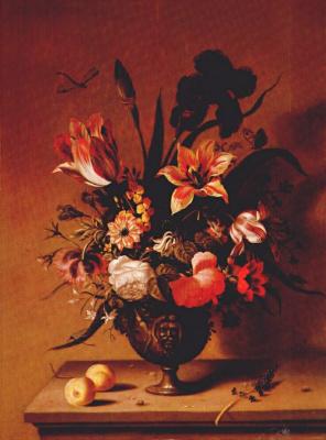 Амброзиус Босхарт Старший. Свежие цветы в бронзовой вазе