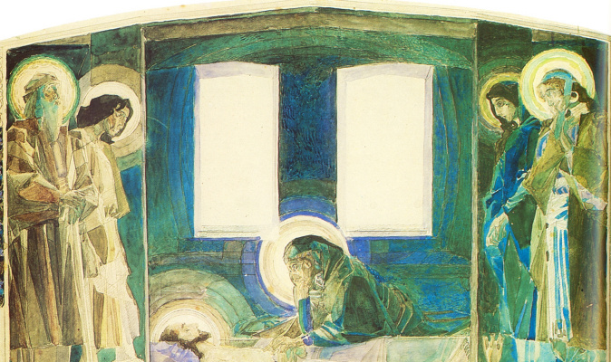Mikhail Vrubel. Lamentation (the fourth option). The sketch for the painting of the Vladimir Cathedral in Kiev